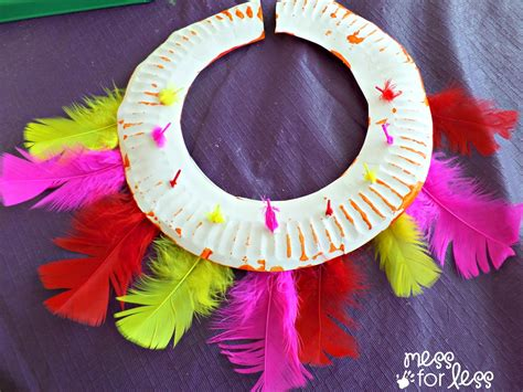 craft ceremonial headdress and necklace inspired by 517 | feather head dress
