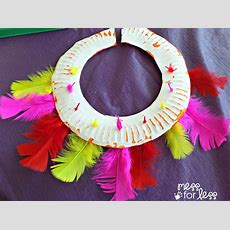 Kids Craft Ceremonial Headdress And Necklace Inspired By