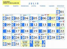 Calendario Lunar Julio de 2007