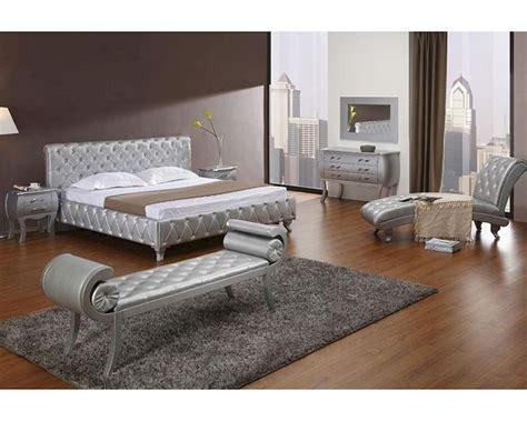 platinum edition bedroom set  modern bed  crystals