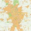 Digital City Map Lodz 481   The World of Maps.com