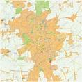 Digital City Map Lodz 481 | The World of Maps.com