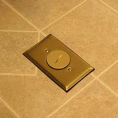 electric work kitchen floor outlet With brass cover plates floor outlets