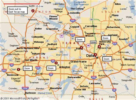 map  dallas fort worth travelsmapscom