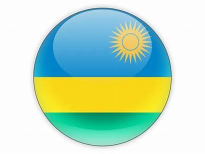 Rwanda Icon Round Flag Commercial Non Takoradi