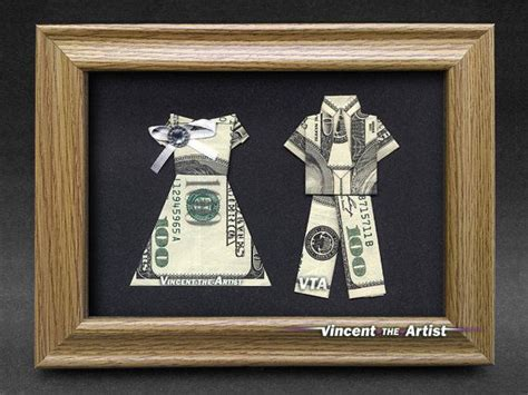 beautiful bride groom money gift