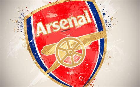 Download wallpapers Arsenal FC, 4k, paint art, logo ...