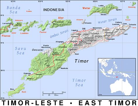 Tl · Timor Leste East Timor · Public Domain Maps By Pat