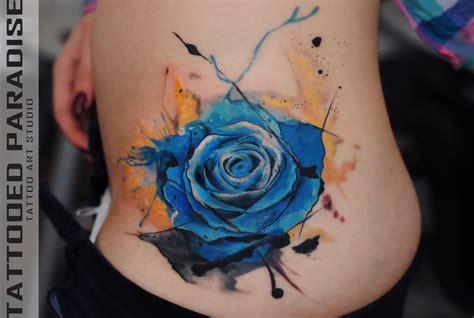 beautiful watercolor rose tattoos