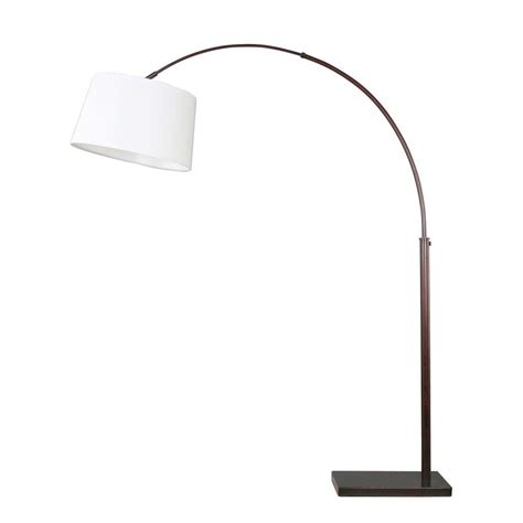 floor l white shade dsi 67 1 4 in oil rubbed bronze arc floor l with white