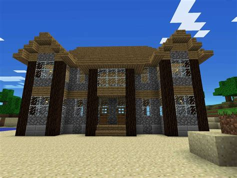 minecraft house design layout rumah joglo limasan work