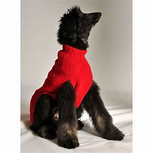 Red Cable Knit Dog Sweater | Chilly Dog Sweaters at ...