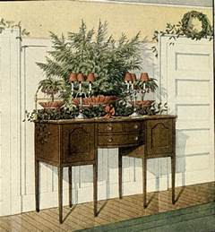 fashioned greenery decorating ideas a hundred years ago