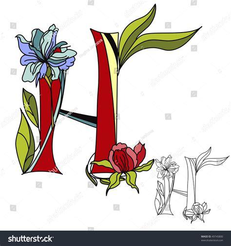 floral font letter h stock photos floral font letter h floral font 2 letter h stock vector 49745800 60525