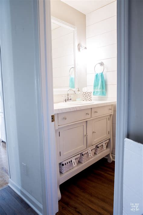 Budget Bathroom Makeovers by Chic Powder Room Makeover In My Own Style