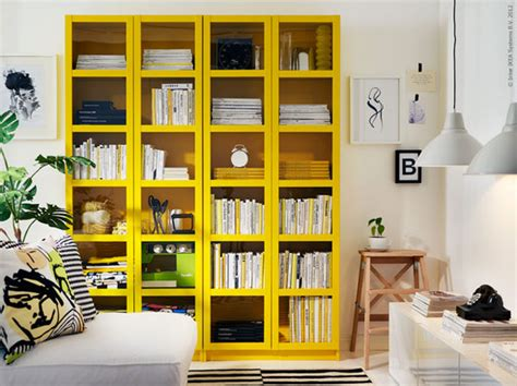 Green & Yellow {ikea Bookcases}