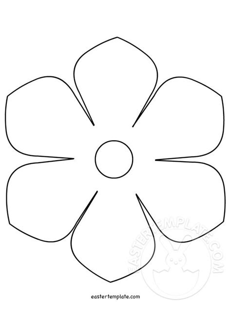 printable flower template cut out printable flower template easter template