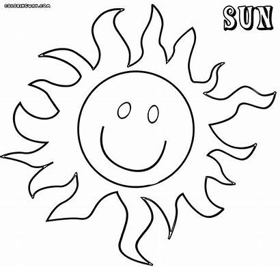 Sun Coloring Printable Sheets Colorings Hard Template
