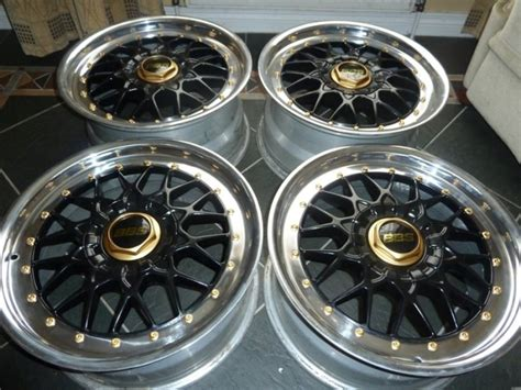 genuine  piece bbs alloy wheels  bmw staggered rc