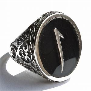 925 sterling silver ring for men with arabic letter quotalif With mens letter rings
