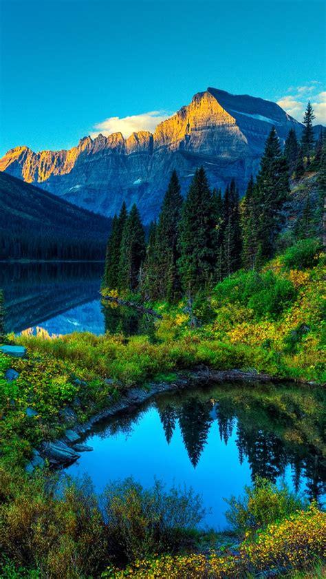 Hdr Mountains Lake Iphone 5 Wallpaper Hd Free Download