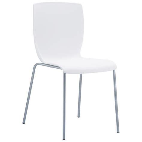 chaises cuisine blanches chaise de cuisine plez blanche en mati 232 re p achat