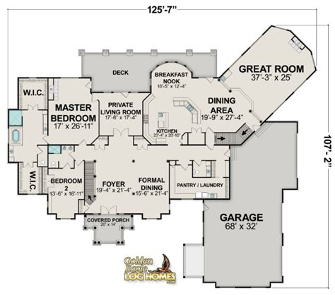 one house plans with large kitchens luxury log homes large log cabin home floor plans eagle