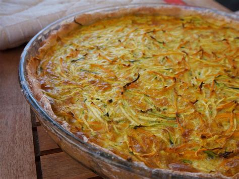 cuisiner de la courge tarte courgettes carottes et curry