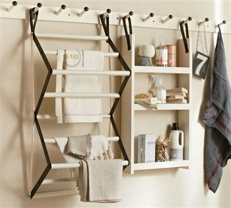 Pottery Barn Wall Accessories by Gabrielle Laundry System Traditional Drying Racks By