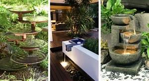 Fabriquer Une Fontaine Sans Pompe : 23 magnifiques fontaines pour d corer votre jardin ~ Melissatoandfro.com Idées de Décoration