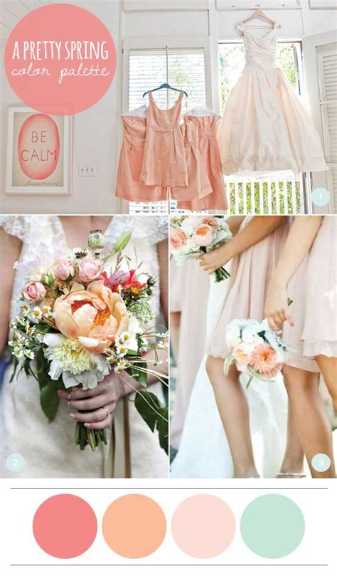 A Pretty Spring Color Palette Wedding Spring Wedding