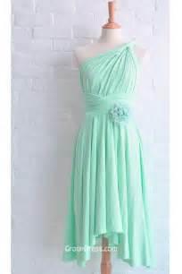 bridesmaid dresses mint green one shoulder mint green sleeveless flower chiffon bridesmaid dress groupdress