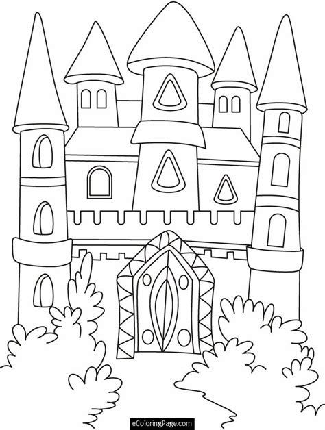 coloring castle cinderella castle coloring pages az coloring pages