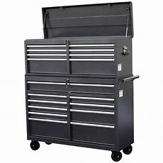 Wen 52 In 18drawer Tool Chest And Cabinet Combo, Gray
