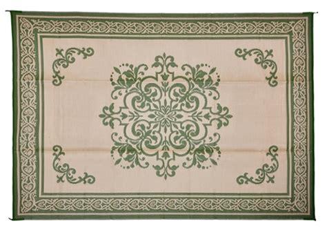 reversible patio mats 510 8 x 20 medallion fern patio mat