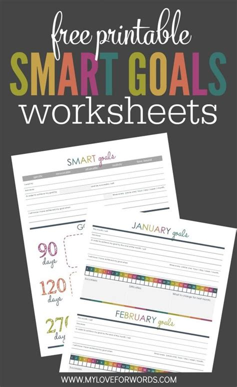 organizational printables  printable smart goals