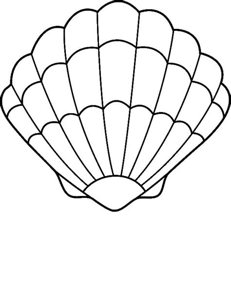 lovely zigzag scallop seashell drawing coloring page