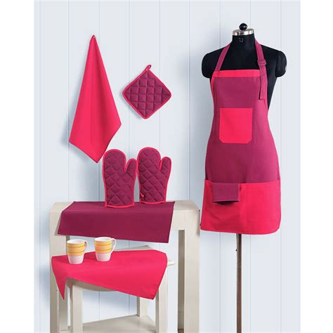 Kitchen Tea Aprons by 8pc Kitchen Linen Set Apron Oven Gloves Plate Holder