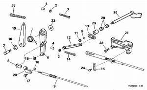 Throttle Linkage Parts For 1997 25hp E25tkleur Outboard Motor