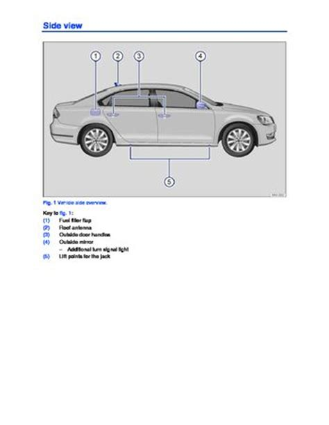 volkswagen passat owners manual   pages
