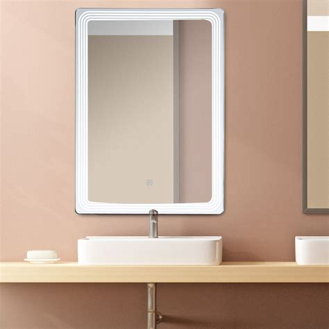 lighted wall mirror homcom vertical 32 led illuminated bathroom wall mirror