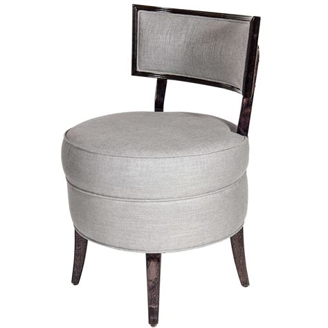 furniture comfortable padded vanity chair with low button