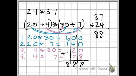 distributive property  solve multiple digit
