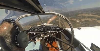 Pilot Plane Propeller Lands Falls Flight Calmly