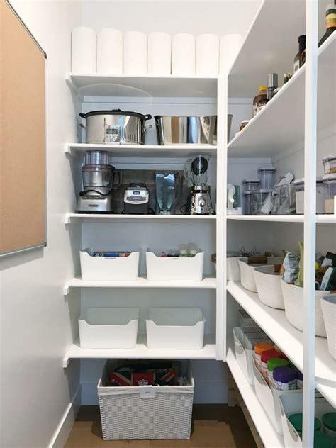 Crisp White Walk  Pantry Simply Organized
