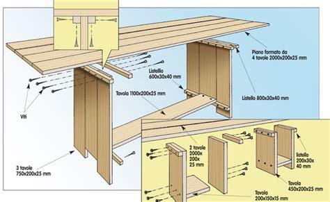 progetto scrivania fai da te tavolo fai da te in legno bricoportale fai da te e
