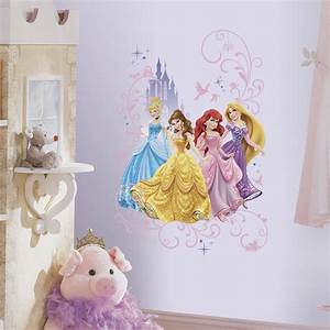 disney princesses with castle wall decals princess With beautiful rapunzel wall decal