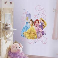 Disney Princesses With Castle Wall Decals Princess