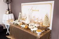 elegant party themes Kara's Party Ideas Elegant Gold + White Baptism Party   Kara's Party Ideas