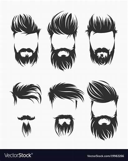 Vector Beard Hairstyle Mustache Vectors